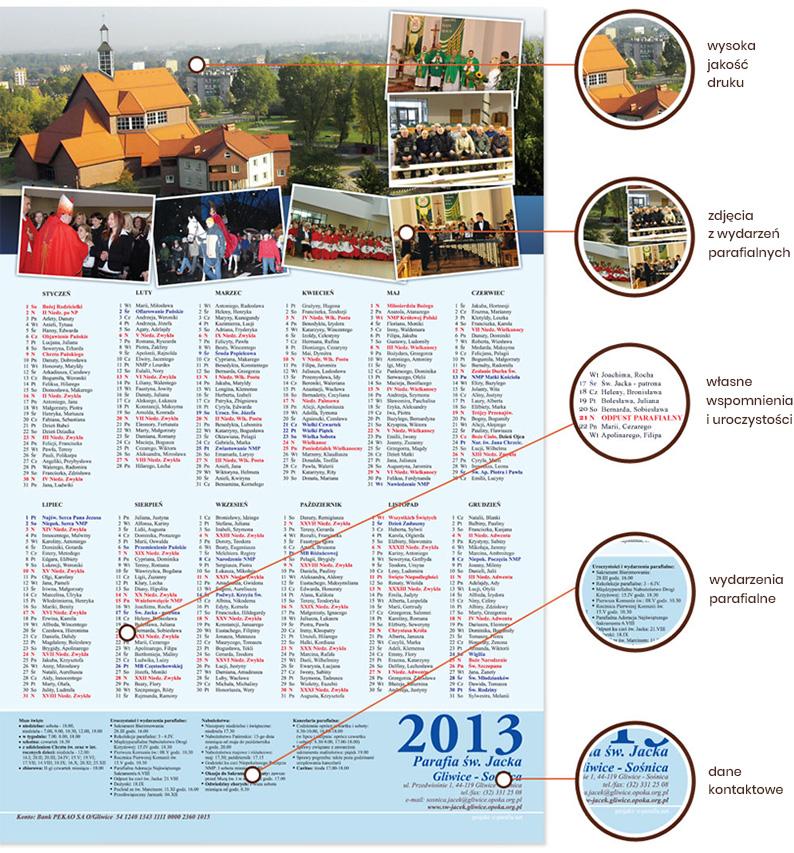 Parafialne kalendarze